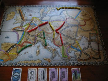 Harta Ticket to Ride: Europe
