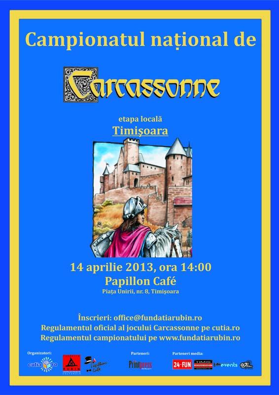 Afis Campionat de Carcassonne Timisoara
