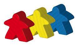 Meeple-tricolor